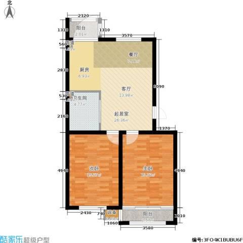 大树花园2室0厅1卫0厨96.00㎡户型图