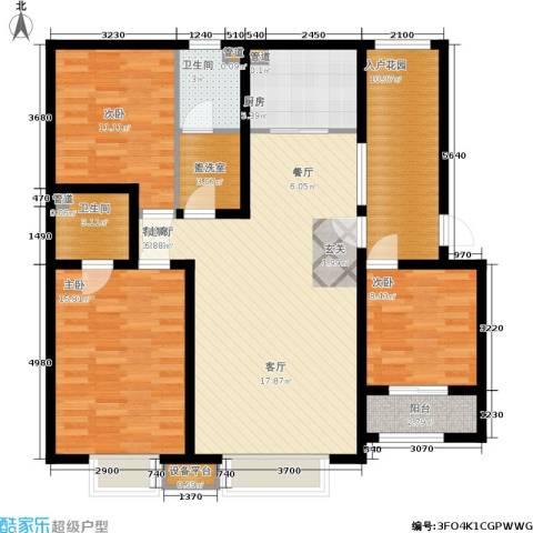 领世城邦3室1厅2卫1厨139.00㎡户型图