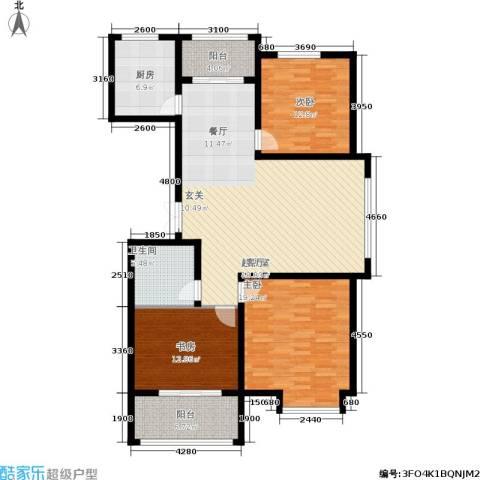 新兴国际文教城3室0厅1卫1厨123.00㎡户型图