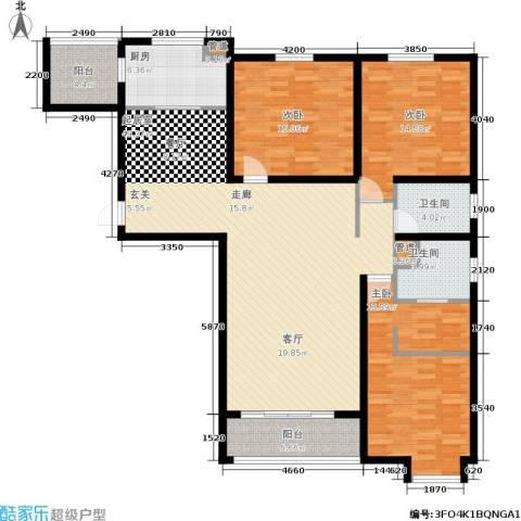 新兴国际文教城3室0厅2卫1厨138.00㎡户型图