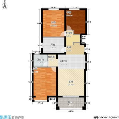 新兴国际文教城3室0厅1卫1厨115.00㎡户型图