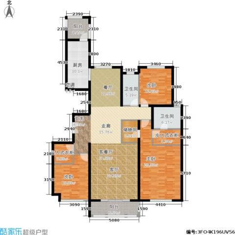 龙湾3室1厅2卫1厨178.00㎡户型图