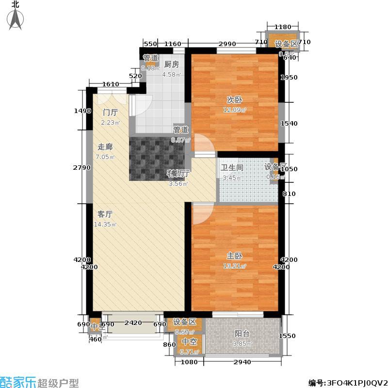 金隅香溪家园90.00㎡B1户型2室2厅