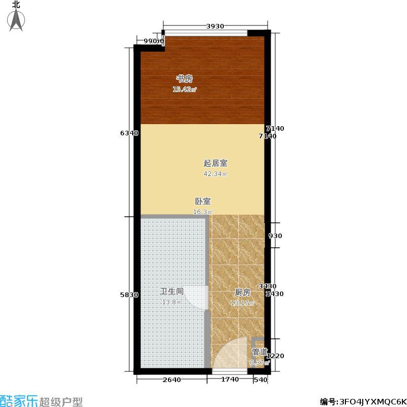 广州南沙万达广场62.00㎡B6栋酒店公寓户型