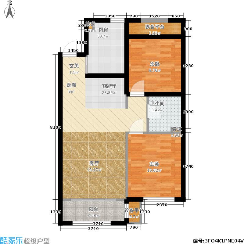 通泰国际公馆88.00㎡通泰国际公馆A02户型2室2厅