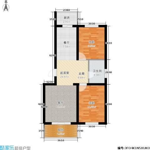 繁兴花苑2室0厅1卫1厨88.00㎡户型图