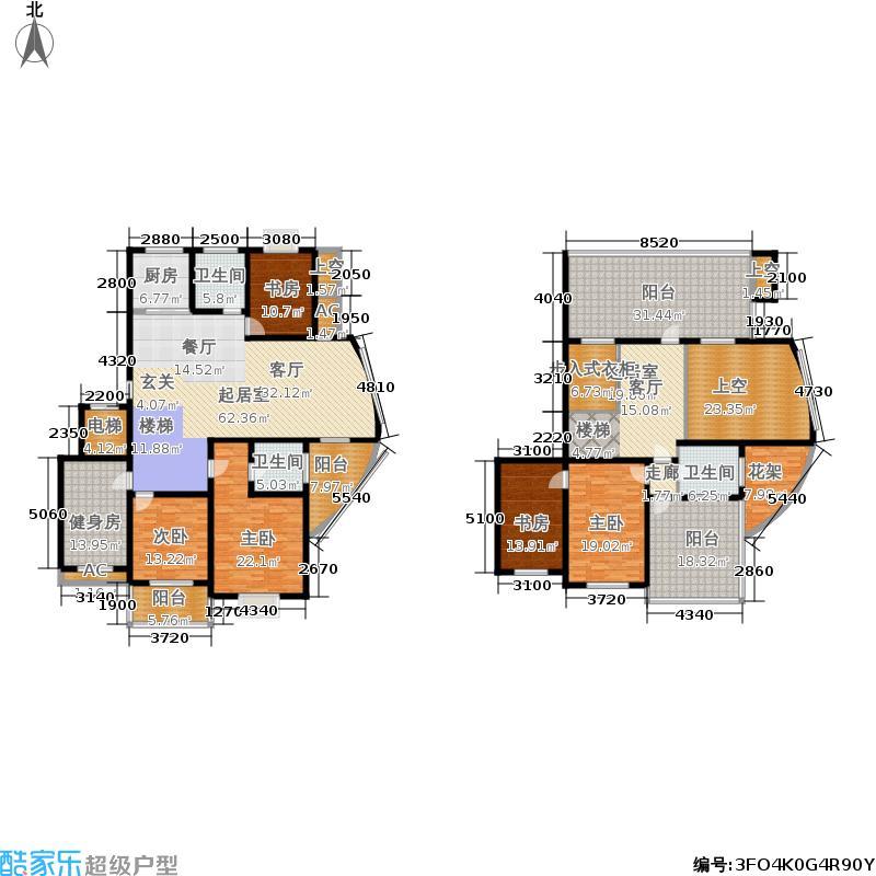 香滨湾花园271.00㎡金海香滨湾户面积27100m户型