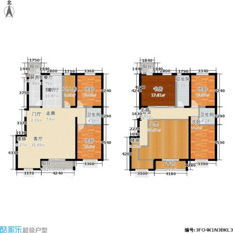 晨曦家园5室1厅3卫1厨309.00㎡户型图