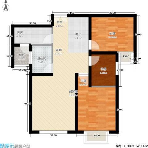 松石国际城3室0厅1卫1厨98.00㎡户型图