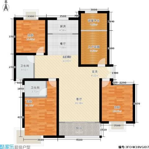 松石国际城3室0厅2卫1厨161.00㎡户型图