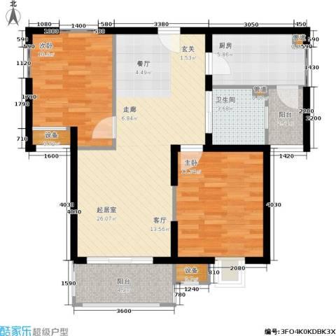 绿岛江湾城2室0厅1卫1厨92.00㎡户型图