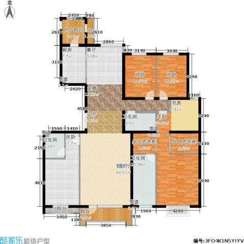 梧桐府4室1厅3卫1厨270.00㎡户型图
