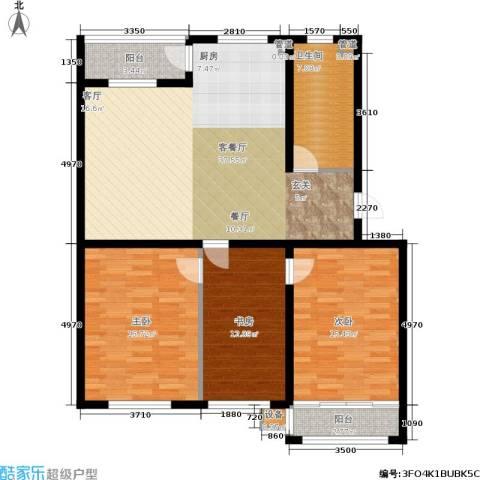 大树花园3室1厅1卫0厨135.00㎡户型图