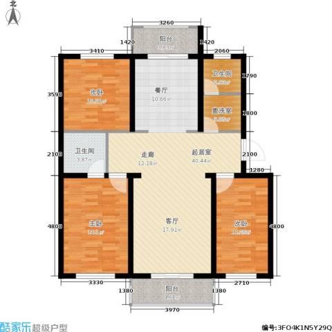 繁兴花苑3室0厅2卫0厨135.00㎡户型图