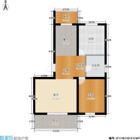 繁兴花苑2室0厅1卫1厨108.00㎡户型图