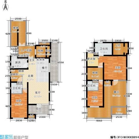 浦江坤庭3室0厅3卫1厨177.00㎡户型图