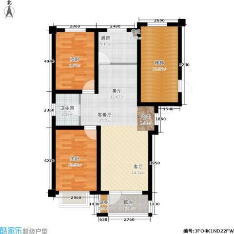 金色雅居2室1厅1卫1厨105.00㎡户型图