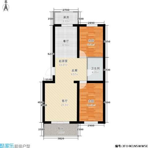 繁兴花苑2室0厅1卫1厨94.00㎡户型图
