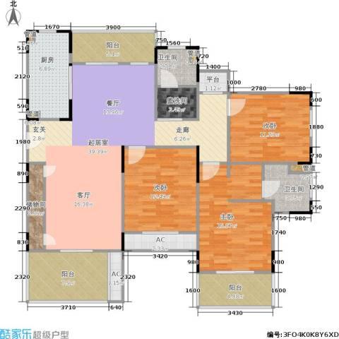 乾耀东港3室0厅2卫1厨137.00㎡户型图