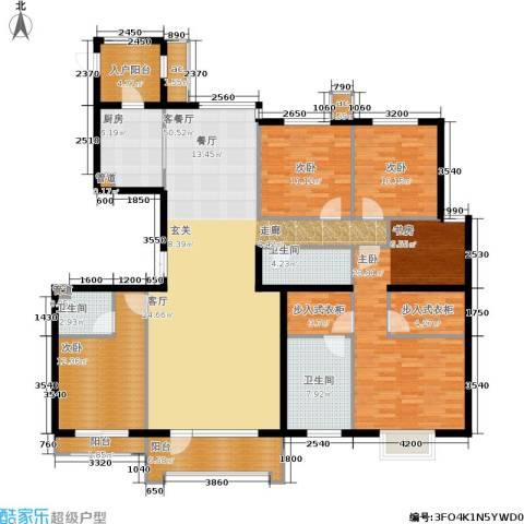 梧桐府4室1厅3卫1厨215.00㎡户型图