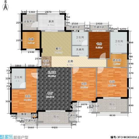 绿地百年宅4室0厅3卫1厨160.00㎡户型图