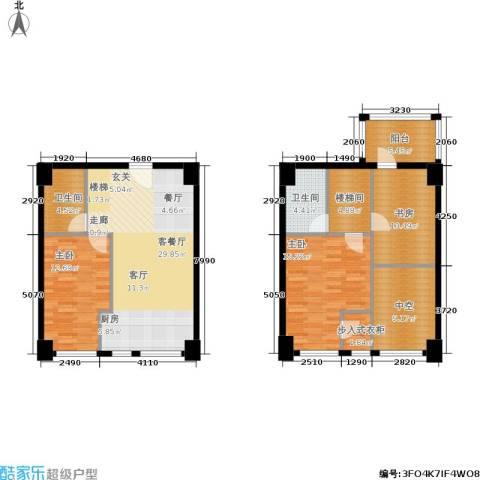 桃源水榭・叠萃3室1厅2卫0厨140.00㎡户型图