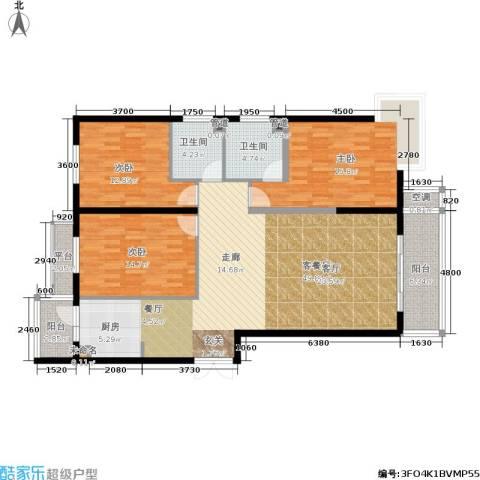 曼哈顿水岸公馆3室1厅2卫0厨161.00㎡户型图