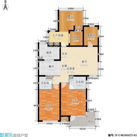浦江坤庭2室0厅2卫1厨137.00㎡户型图