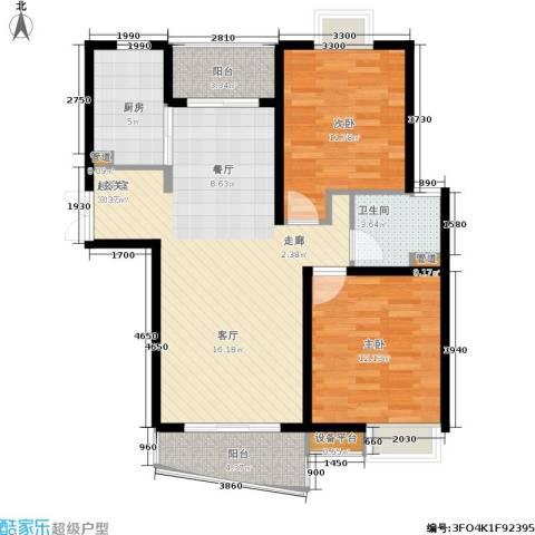 万象后街2室0厅1卫1厨102.00㎡户型图