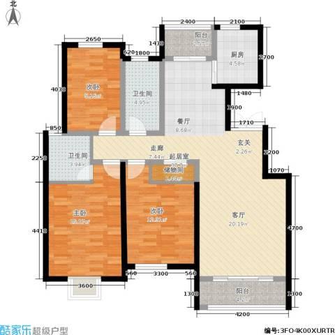 阅城国际花园3室0厅2卫1厨132.00㎡户型图