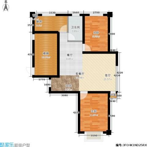 金色雅居2室1厅1卫1厨101.00㎡户型图