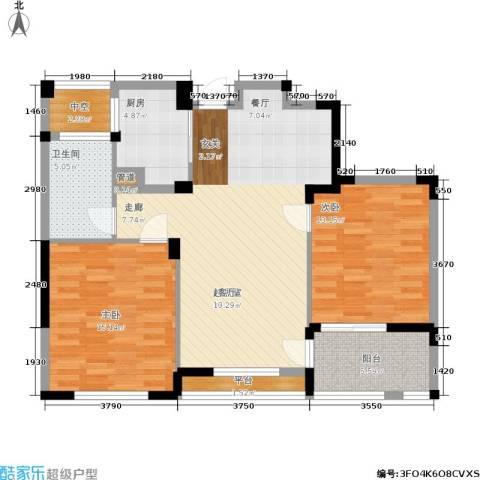 长江国际花园二期2室0厅1卫1厨89.00㎡户型图