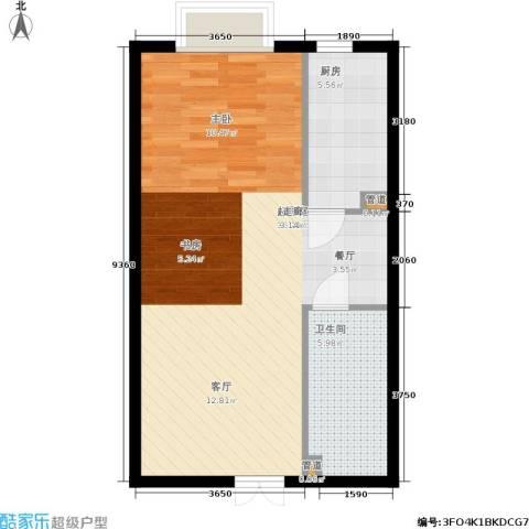 天朗国际广场1卫1厨65.00㎡户型图