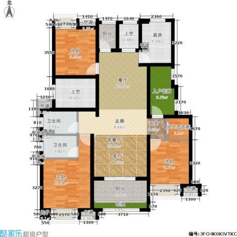 新城馥华里3室1厅2卫1厨130.00㎡户型图