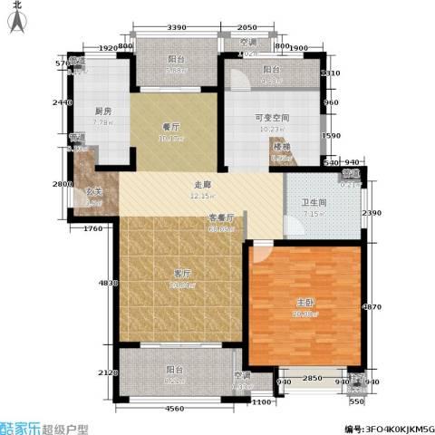 中星海上名豪苑四期御菁园1室1厅1卫0厨132.00㎡户型图