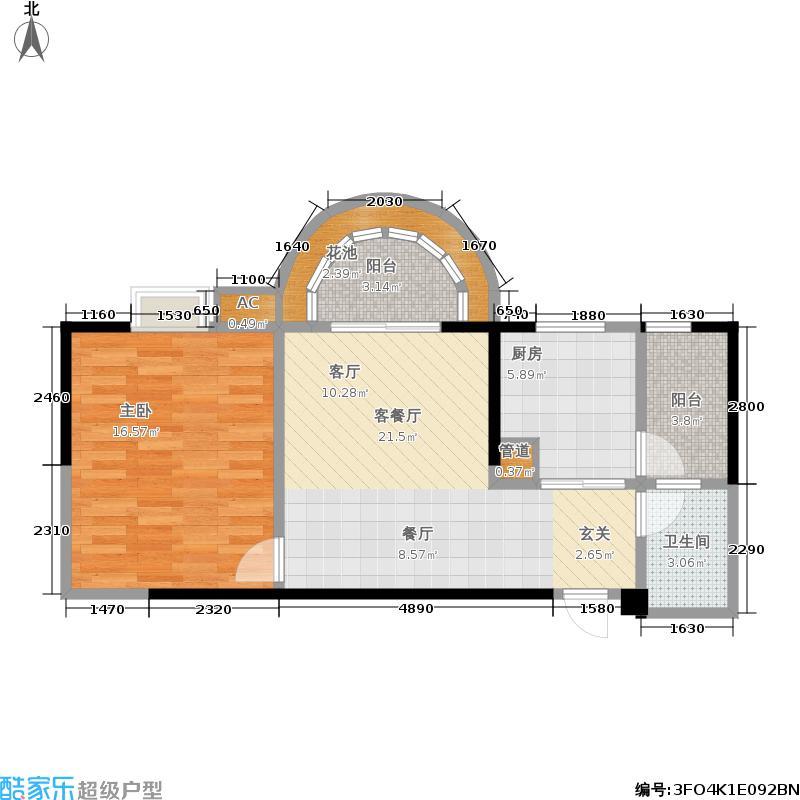 龙跃煕炎景城63.07㎡龙跃・�炎景城A-1户型