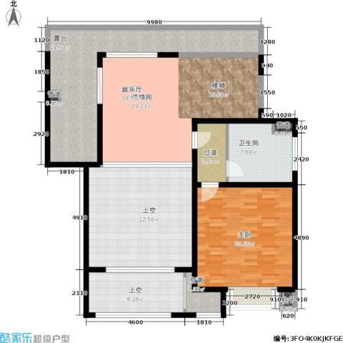 中星海上名豪苑四期御菁园1室0厅1卫0厨132.00㎡户型图