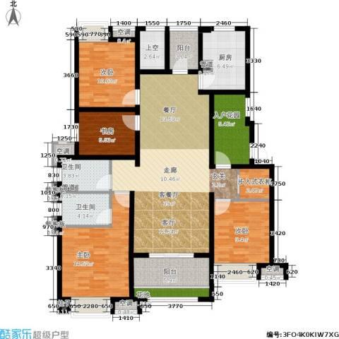 新城馥华里4室1厅2卫1厨140.00㎡户型图