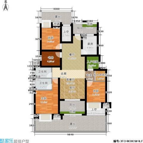 新城馥华里4室1厅2卫1厨144.00㎡户型图