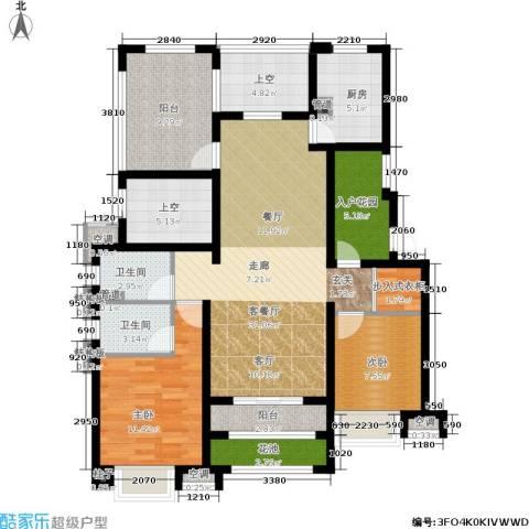 新城馥华里2室1厅2卫1厨113.00㎡户型图