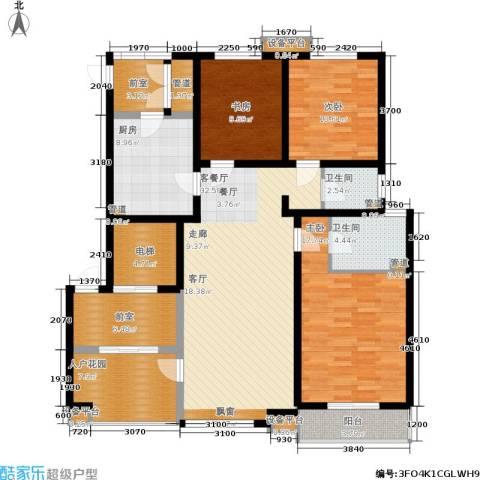 领世城邦3室1厅2卫1厨168.00㎡户型图