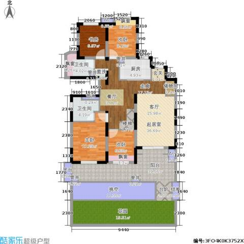 中建溪岸澜庭4室0厅2卫1厨158.00㎡户型图