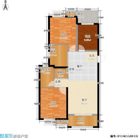 南通华润中心3室0厅1卫1厨113.00㎡户型图