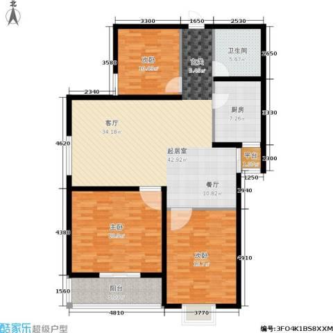 帝豪天成3室0厅1卫1厨122.00㎡户型图