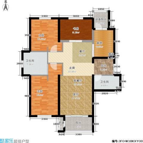 锦湖・金色世家3室1厅2卫1厨148.00㎡户型图