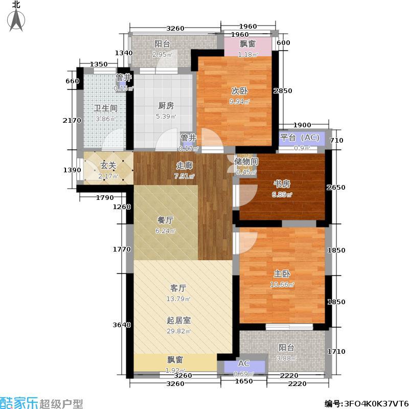 中建溪岸澜庭88.00㎡高层A1户型