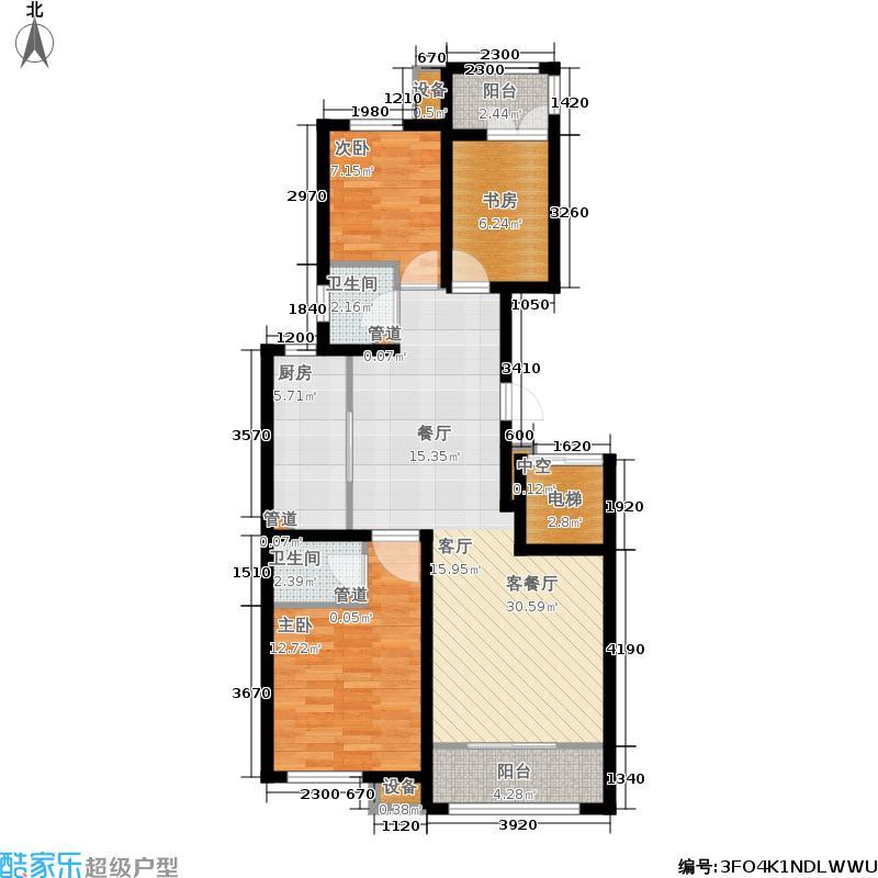 和泓阳光6#楼王F-02户型