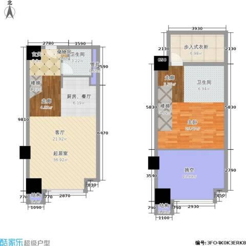 佳兆业城市广场1室0厅1卫0厨88.06㎡户型图