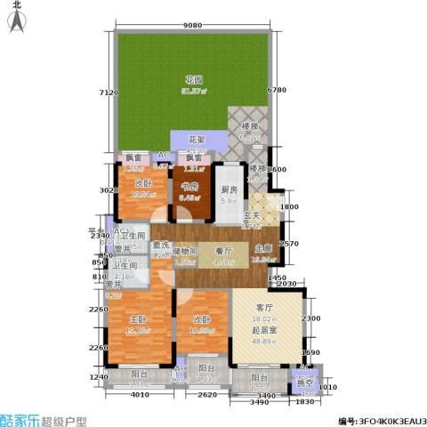 佳兆业城市广场4室0厅2卫1厨190.57㎡户型图
