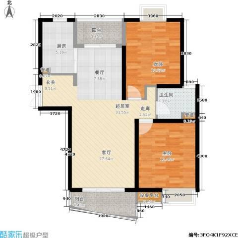 万象后街2室0厅1卫1厨95.00㎡户型图